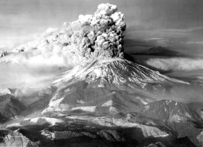 Вулканът Св. Елена - 30 години от изригването / елемент | Полезни ...